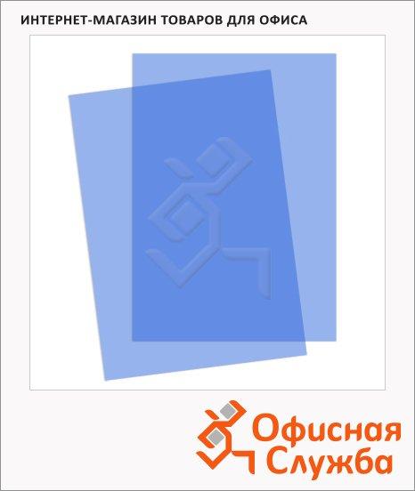фото: Обложки для переплета пластиковые Gbc синие А4, 200 мкм, 100шт