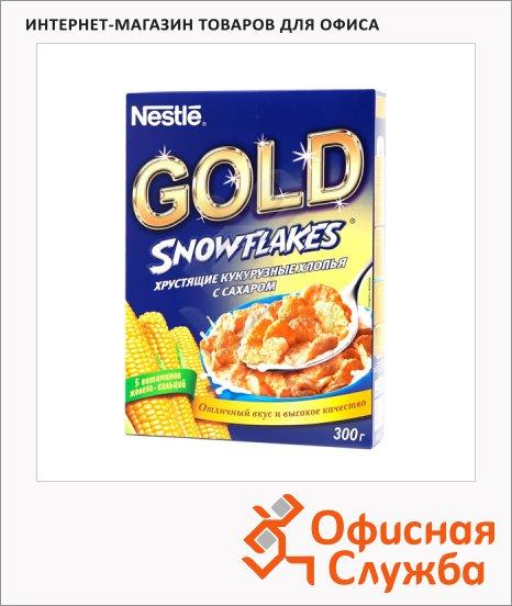 фото: Готовый завтрак Nestle Gold Snowflakes кукурузные хлопья с сахаром 250г