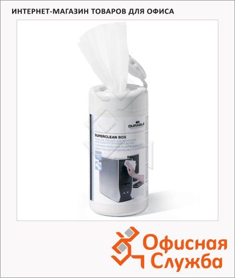 Салфетки чистящие универсальные Durable Screenclean 100 шт/уп, в тубе, 5708-02