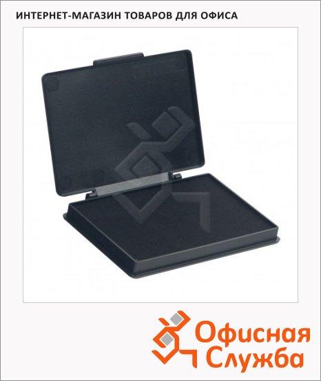 Штемпельная настольная подушка Kores 70х110мм, краска на водной основе, черная, пластик