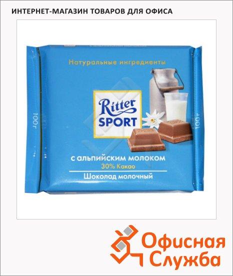 Шоколад Ritter Sport альпийское молоко, молочный