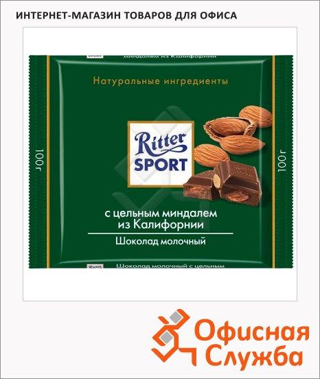 Шоколад Ritter Sport с миндалем, молочный