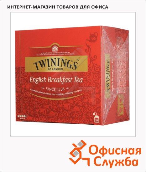 фото: Чай Twinings English Breakfast черный, 50 пакетиков