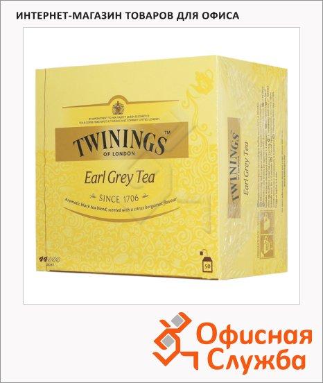 Чай Twinings Earl Grey, черный, 50 пакетиков