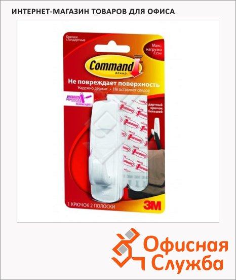 Крючок удаляемый для одежды Command до 2.00кг, белый