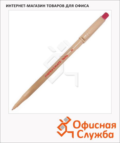 Ручка шариковая стираемая Paper Mate Replay красная, с ластиком, 0.4мм, S0190804