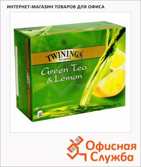 Чай Twinings Green Lemon, зеленый, 25 пакетиков, 50 пакетиков