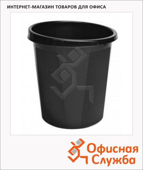 Корзина для бумаг Attache Тула 19  литров, с держателем, черная