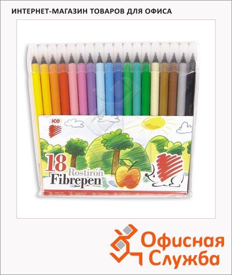 фото: Фломастеры для рисования Ico 300 18 цветов смываемые