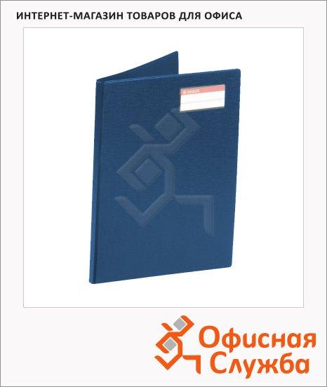 Папка пластиковая с зажимом Esselte синяя, А4, 18мм, 27345