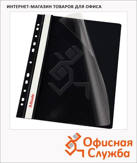 фото: Скоросшиватель с перфорацией Esselte черный А4, 10 шт/уп, 13588