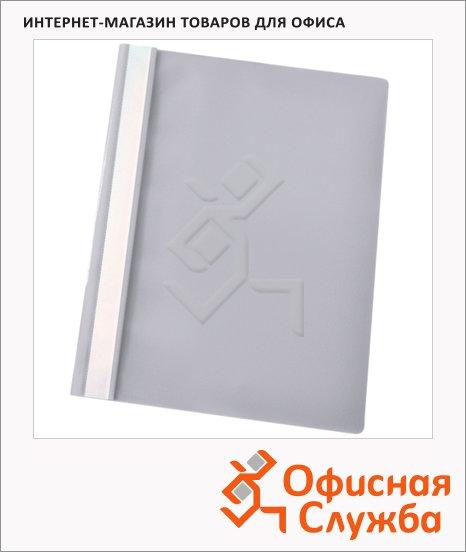 Скоросшиватель пластиковый Esselte серый, А4, 28319
