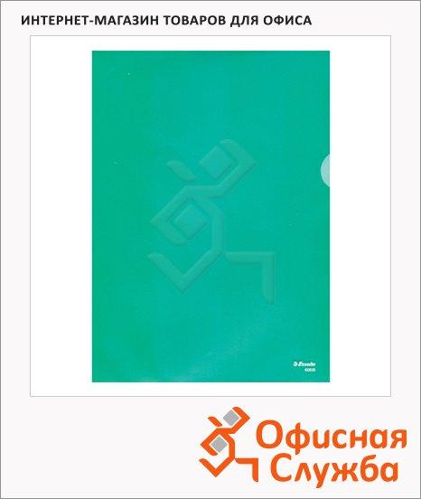 фото: Папка-уголок Esselte зеленая A4, 150мкм, 100 шт/уп, 55276