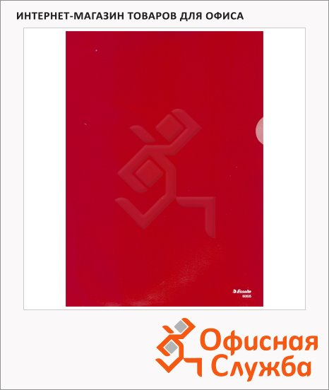 фото: Папка-уголок Esselte красная A4, 150мкм, 100 шт/уп, 55273