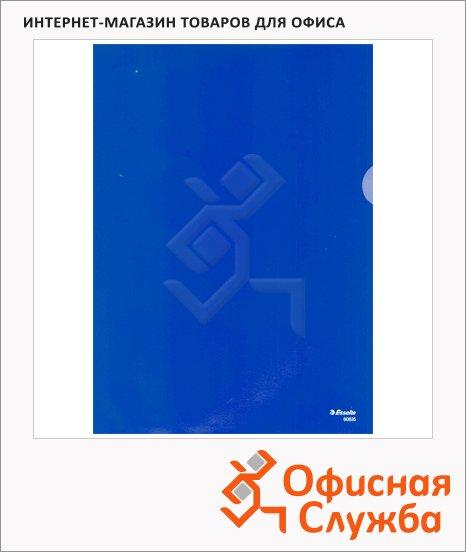 Папка-уголок Esselte синяя, A4, 180мкм, 100 шт/уп, 55275