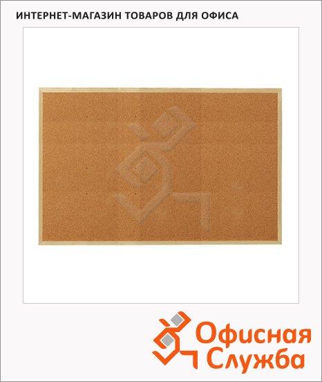 Доска пробковая Esselte 500969 90х120см, коричневая, деревянная рама
