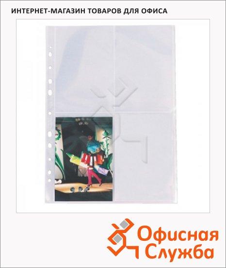 фото: Файл-вкладыш для фотографий А4 Esselte 4 фото 10х15 на листе 80 мкм, 10 шт/уп