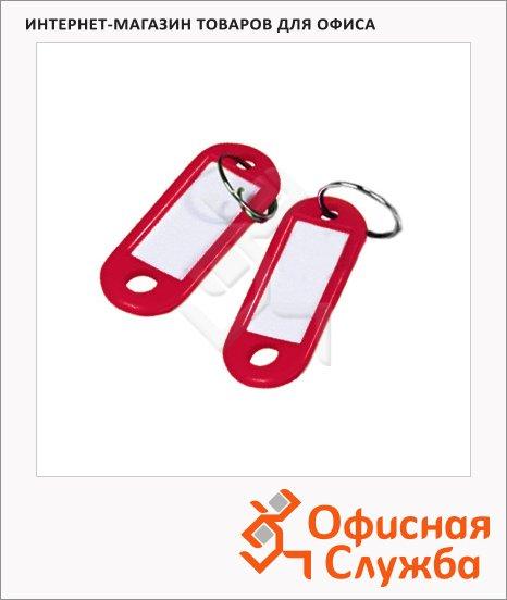 Бирка для ключей Alco красная, 100шт, 1851-12