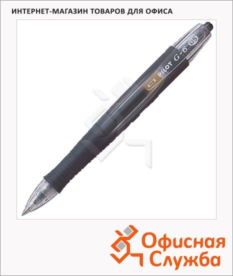 Ручка гелевая автоматическая Pilot BL-G6-5 AlfaGel черная, 0.3мм