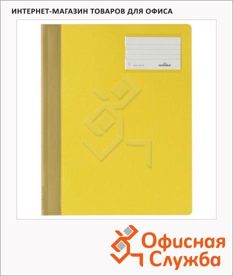 фото: Скоросшиватель пластиковый Durable желтый А4+, 2500-04