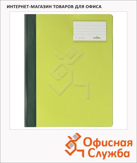 Скоросшиватель пластиковый Durable зеленый, А4+, 2500-05