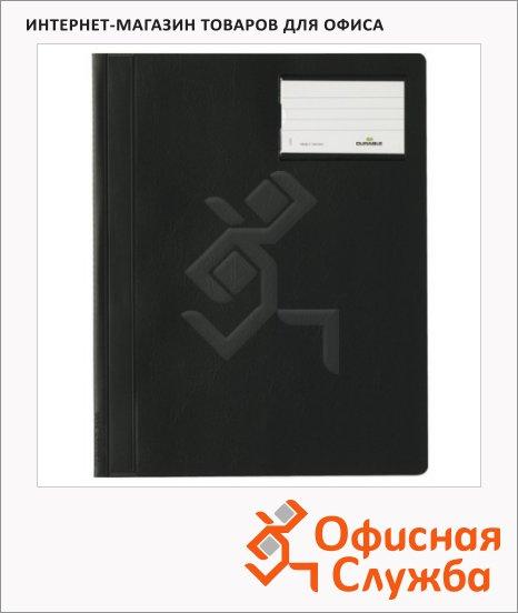 фото: Скоросшиватель пластиковый Durable черный А4+, 2500-01