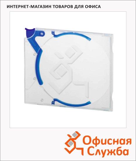Бокс для CD/DVD Durable Quickflip синий, на 1 диск, с механизмом извлечения, 5267-06