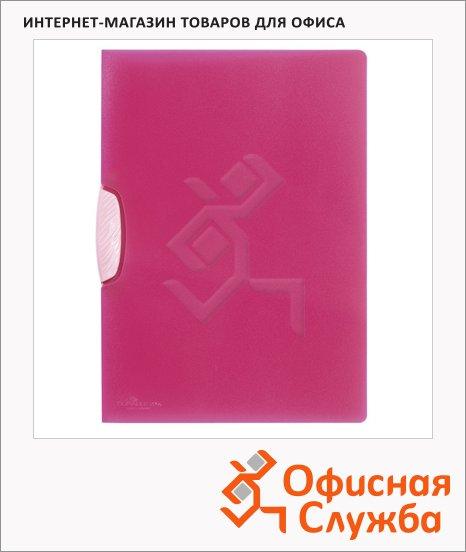 фото: Пластиковая папка с клипом Durable Swingclip Color пурпурная А4, до 30 листов, 2266-35