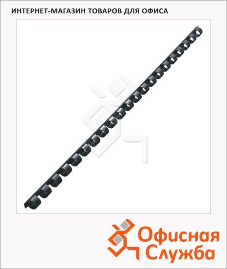 Пружины для переплета пластиковые Leitz черные, на 40-70 листов, 10мм, 100шт, кольцо, 35042