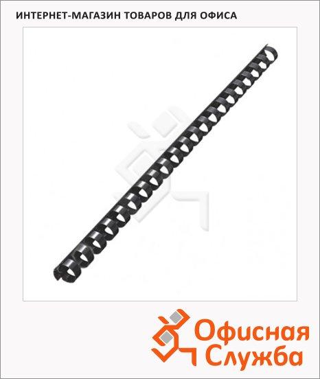 Пружины для переплета пластиковые Leitz черные, на 60-90 листов, 12мм, 100шт, кольцо, 35043