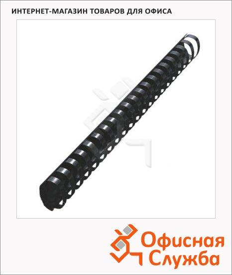 Пружины для переплета пластиковые Leitz черные, на 270-300 листов, овал, 32мм, 50шт, 35091