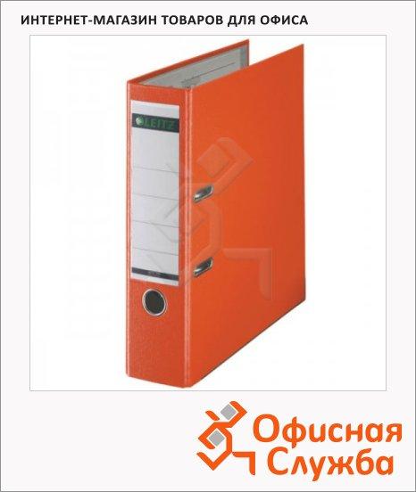 Папка-регистратор А4 Leitz оранжевая, 80 мм, 10101245
