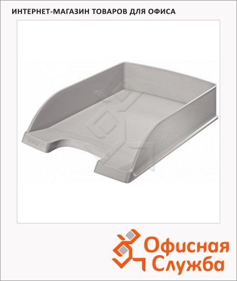 Лоток горизонтальный для бумаг Leitz Plus Standard А4, серый, 52270085