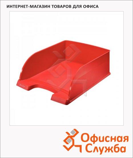 Лоток горизонтальный для бумаг Leitz Plus Jumbo A4, красный, 52330025