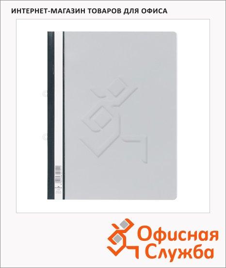 Скоросшиватель пластиковый Durable серый, А4, 2580-10