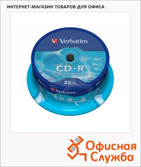 фото: Диск CD-R Verbatim 700Mb 52x, Cake Box, 25шт/уп