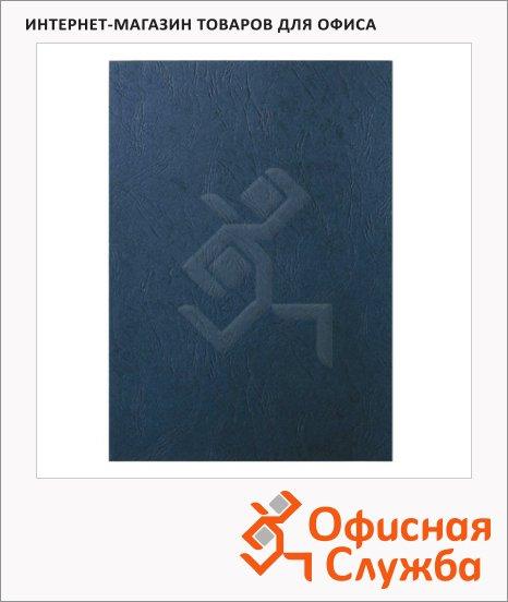 Обложки для переплета картонные Leitz синие, А4, 260 г/кв.м, 100шт, 33663
