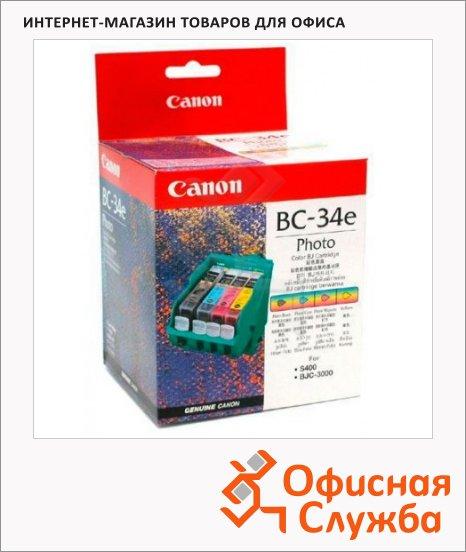 Картридж струйный Canon BC-34e, 4 цвета