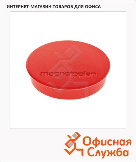 Магниты Magnetoplan Standart d=30х8мм, 10шт/уп, красные