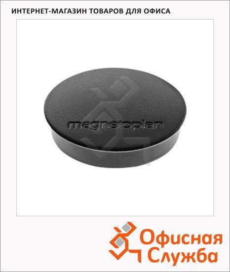 Магниты Magnetoplan Standart d=30х8мм, 10шт/уп, черные