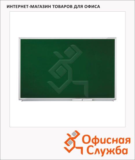Доска меловая Magnetoplan SP 1240995 150х120см, зеленая, лаковая, магнитная, алюминиевая рама, магнитная, алюминиевая рама