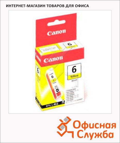 Картридж струйный Canon BCI-6Y, желтый, (4708A002)