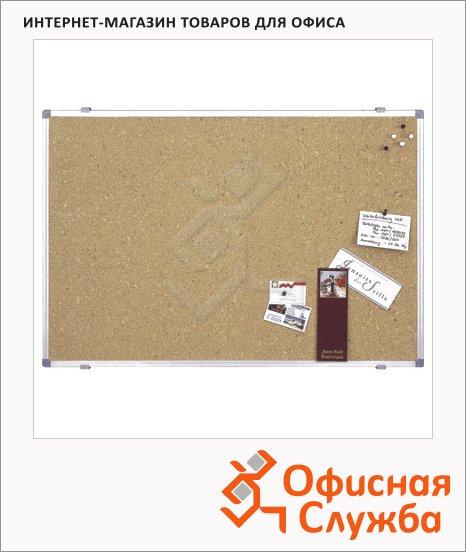Доска пробковая Magnetoplan 12179 120х180, коричневая, алюминиевая рама, алюминиевая рама