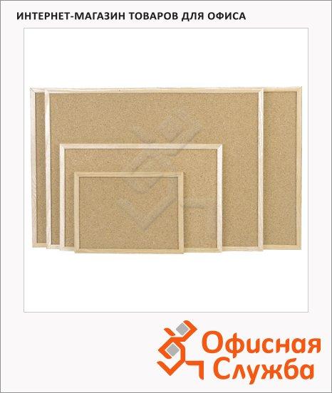 фото: Доска пробковая Magnetoplan 121924 60х80см коричневая, деревянная рама