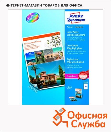 фото: Бумага для принтера Avery Zweckform Премиум А4 100 листов, 210x297мм, 250г/м2, белая суперглянцевая, 2498