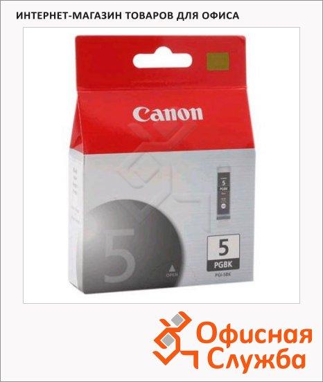 Картридж струйный Canon PGI-5BK, черный, (0628B024)