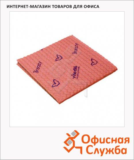 Салфетка хозяйственная Vileda Pro Бризи 35.5х35см, красная, 120129