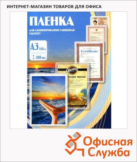 фото: Пленка для ламинирования Office Kit 100мкм 100шт, 303х426мм, глянцевая