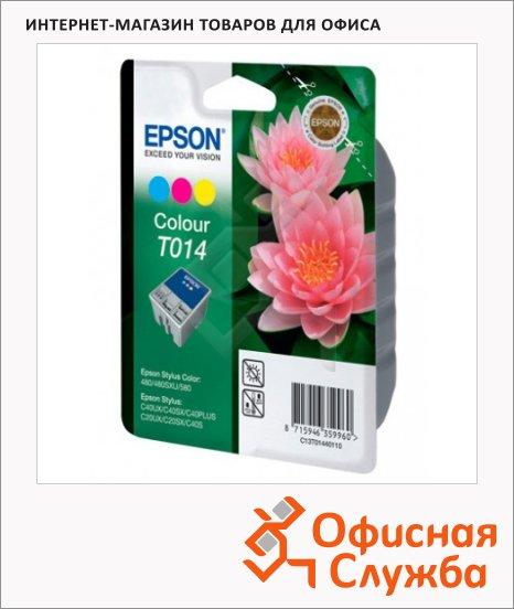 Картридж струйный Epson C13 T014401, 3 цвета