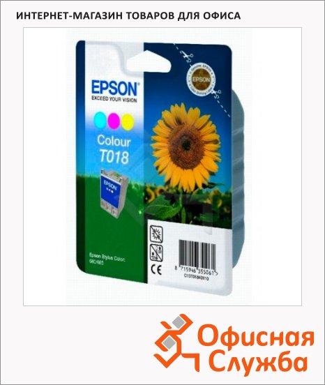 Картридж струйный Epson C13 T018401, 3 цвета